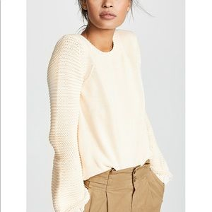 BB Dakota Sweater Knit Cream Balloon Crew Revolve